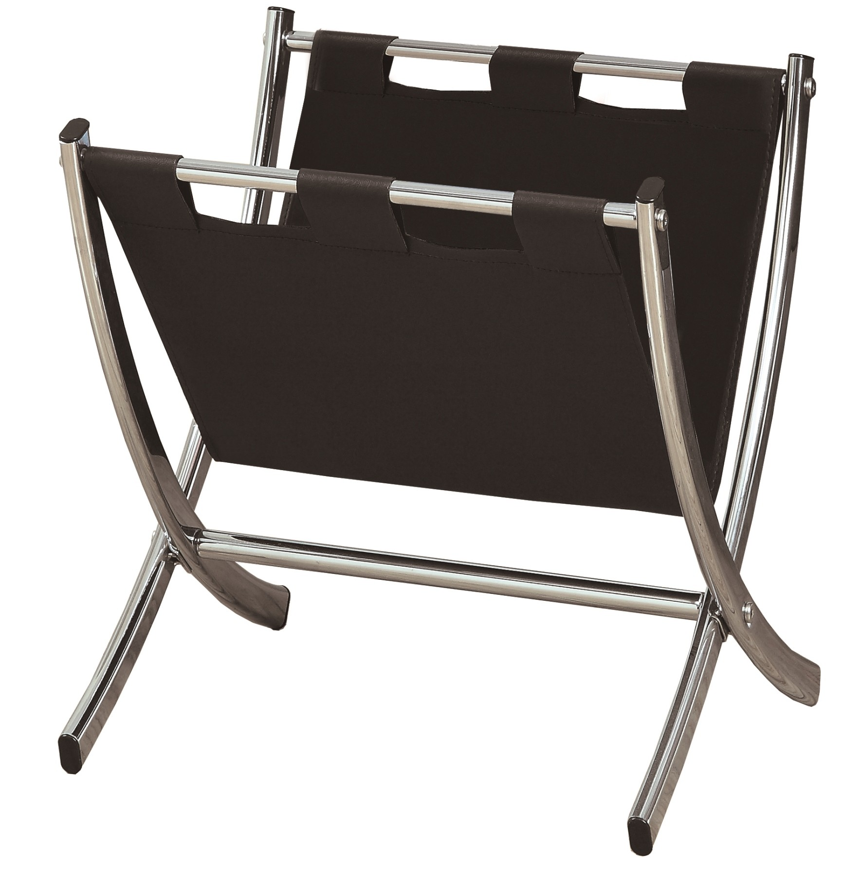 Full of modern sensibility, the Monarch Specialties Metal Magazine Rack will hold your magazines in a style that will blend with your contemporary decor. Constructed out of perforated metal, this rack is a practical storage solution for your living space.