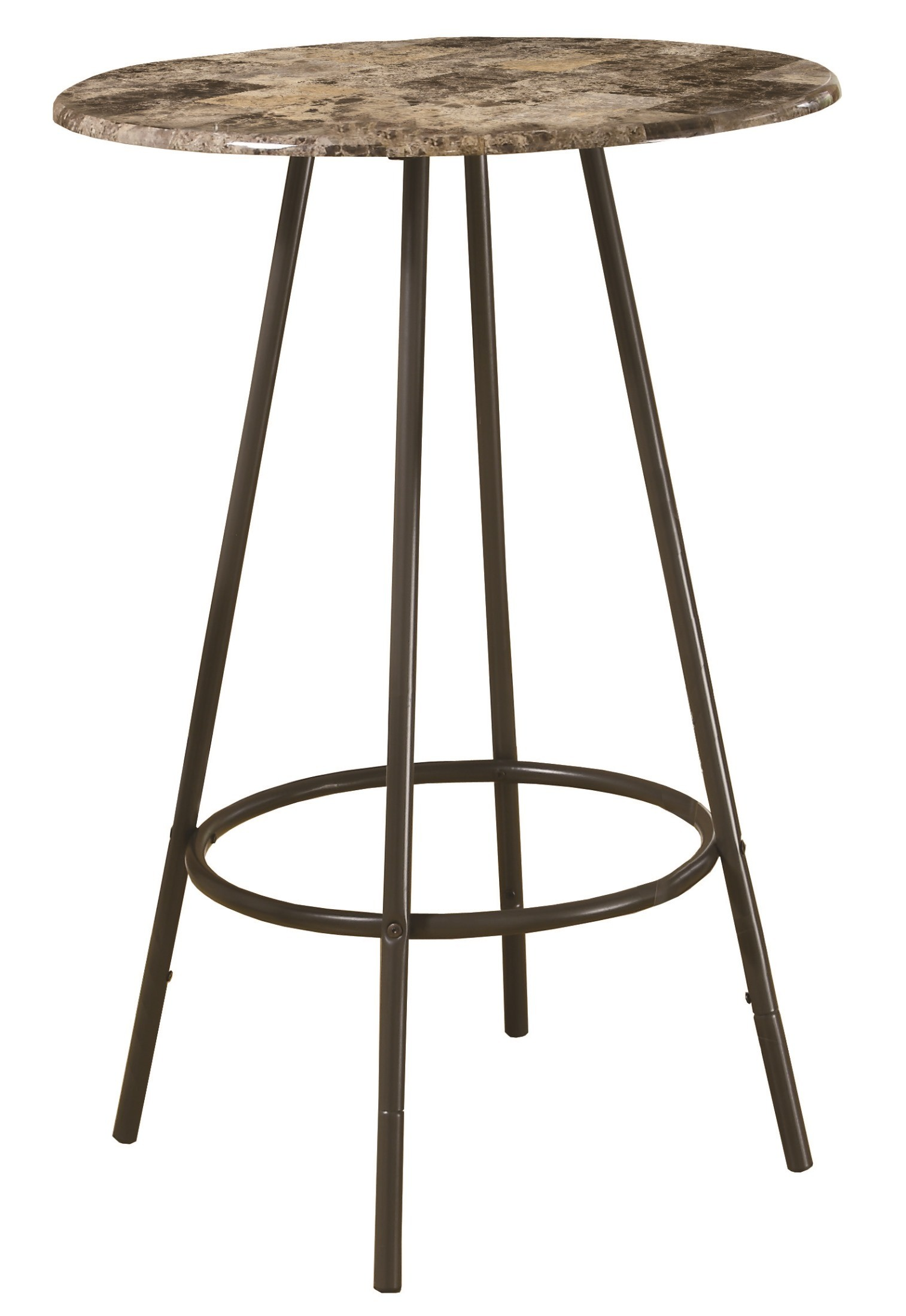 2310 Cappuccino Marble Coffee Metal Bar Table From Monarch I 2310 Coleman Furniture