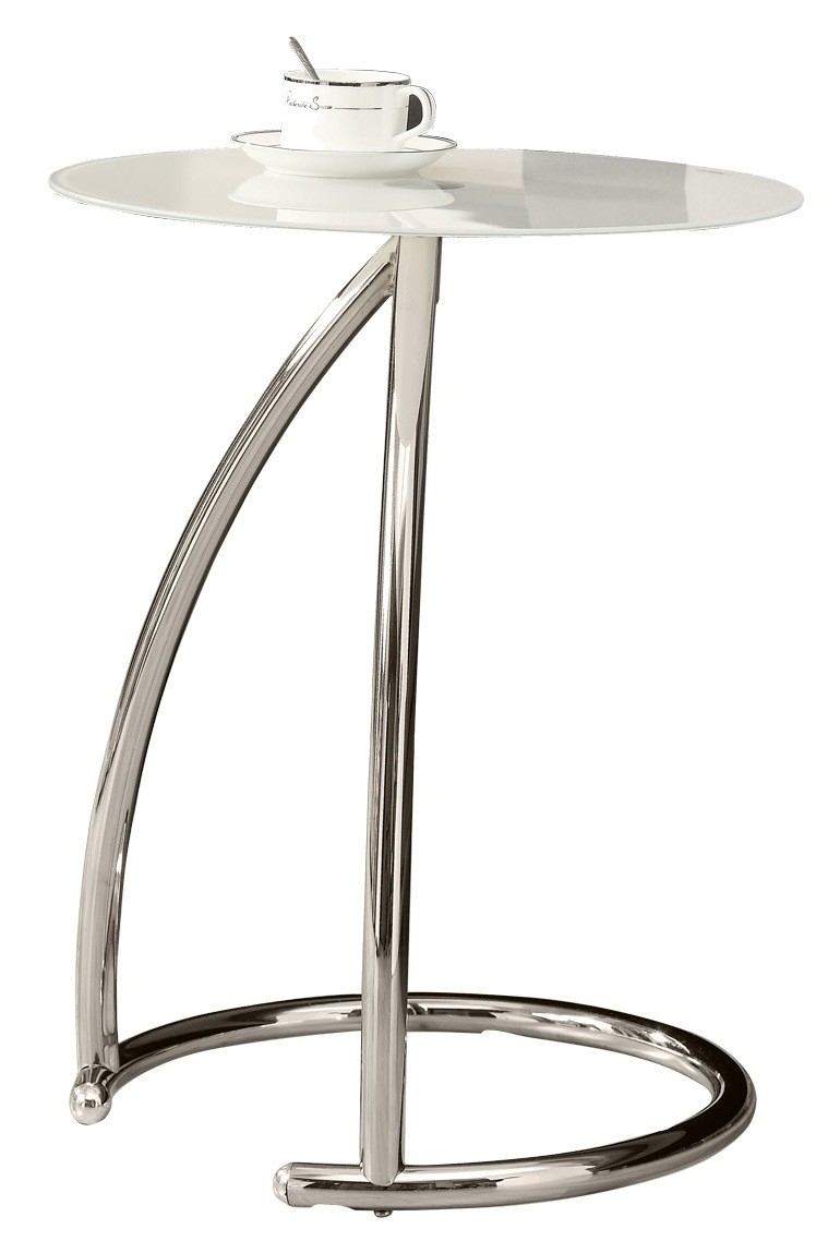 3003 Chrome Metal Accent Table From Monarch I 3003