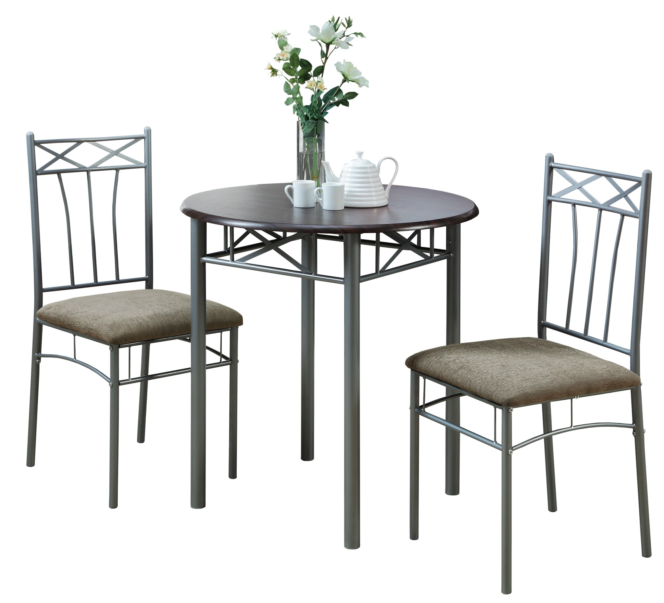 3075 cappuccino silver metal 3pcs bistro set from. Black Bedroom Furniture Sets. Home Design Ideas