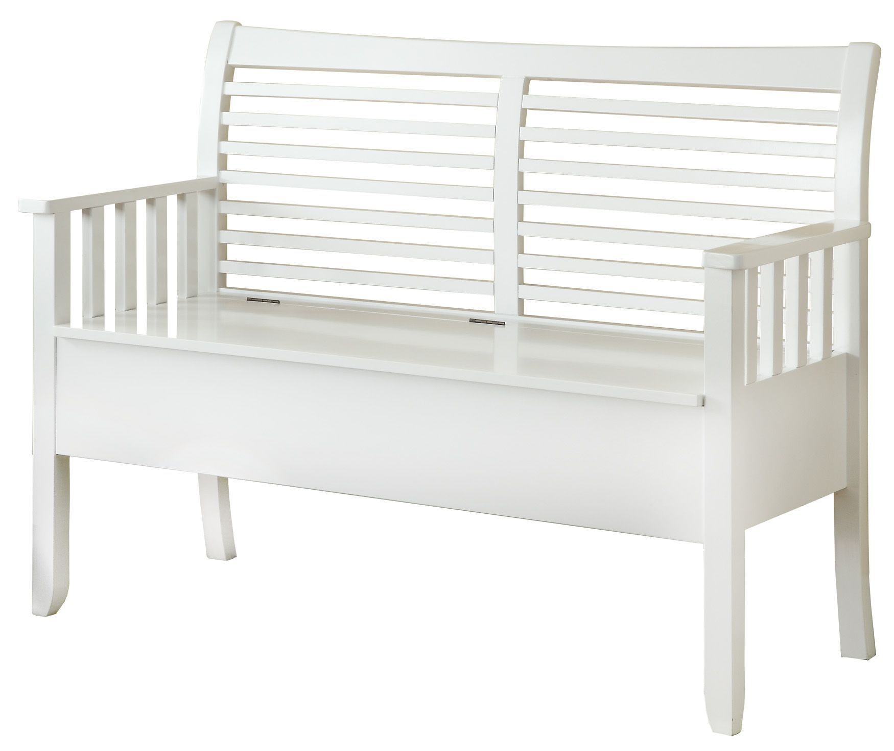 4506 White Solid Wood Storage Bench I 4506 Monarch