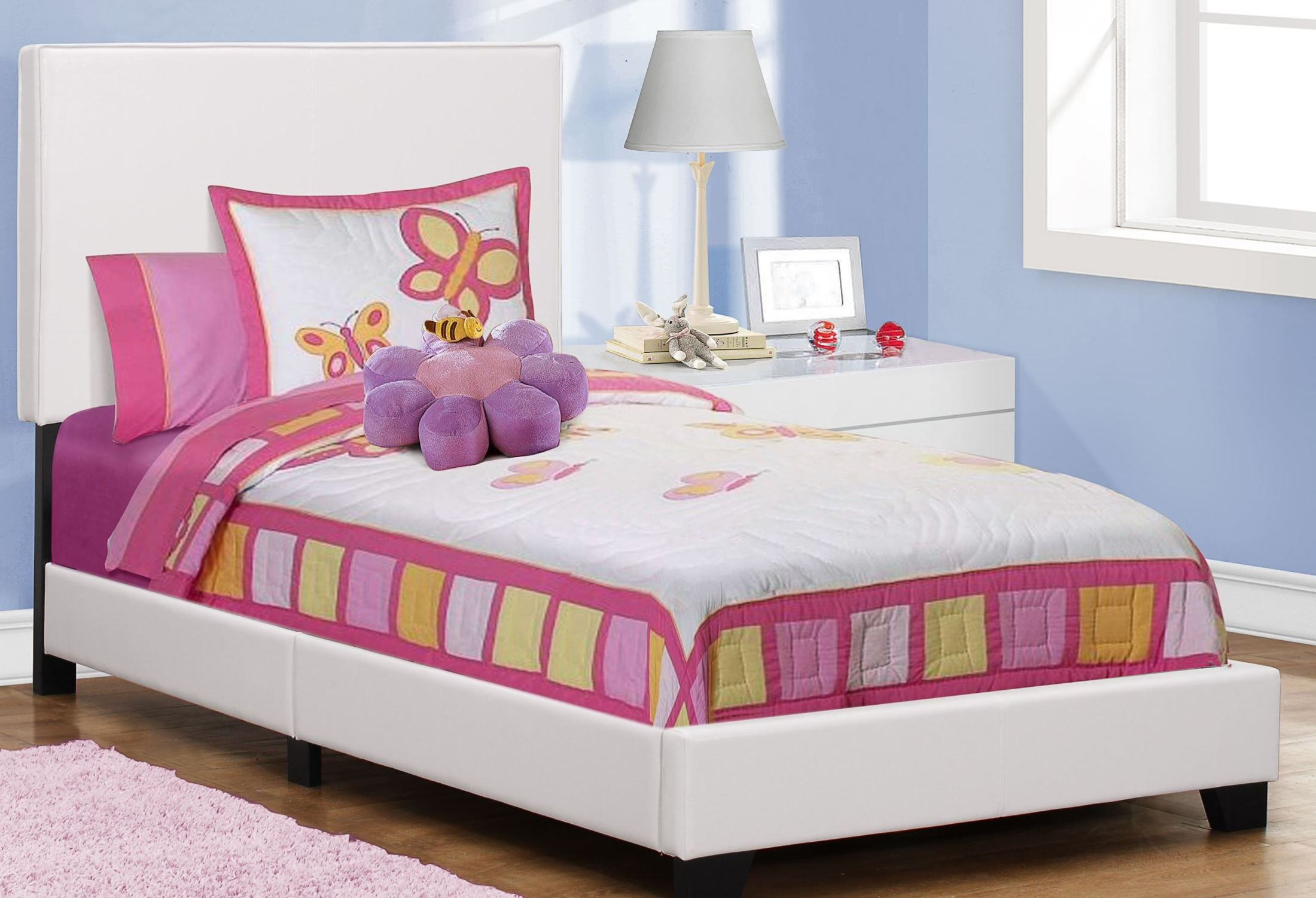 crystal white bedroom set with twin mateu0027s bed