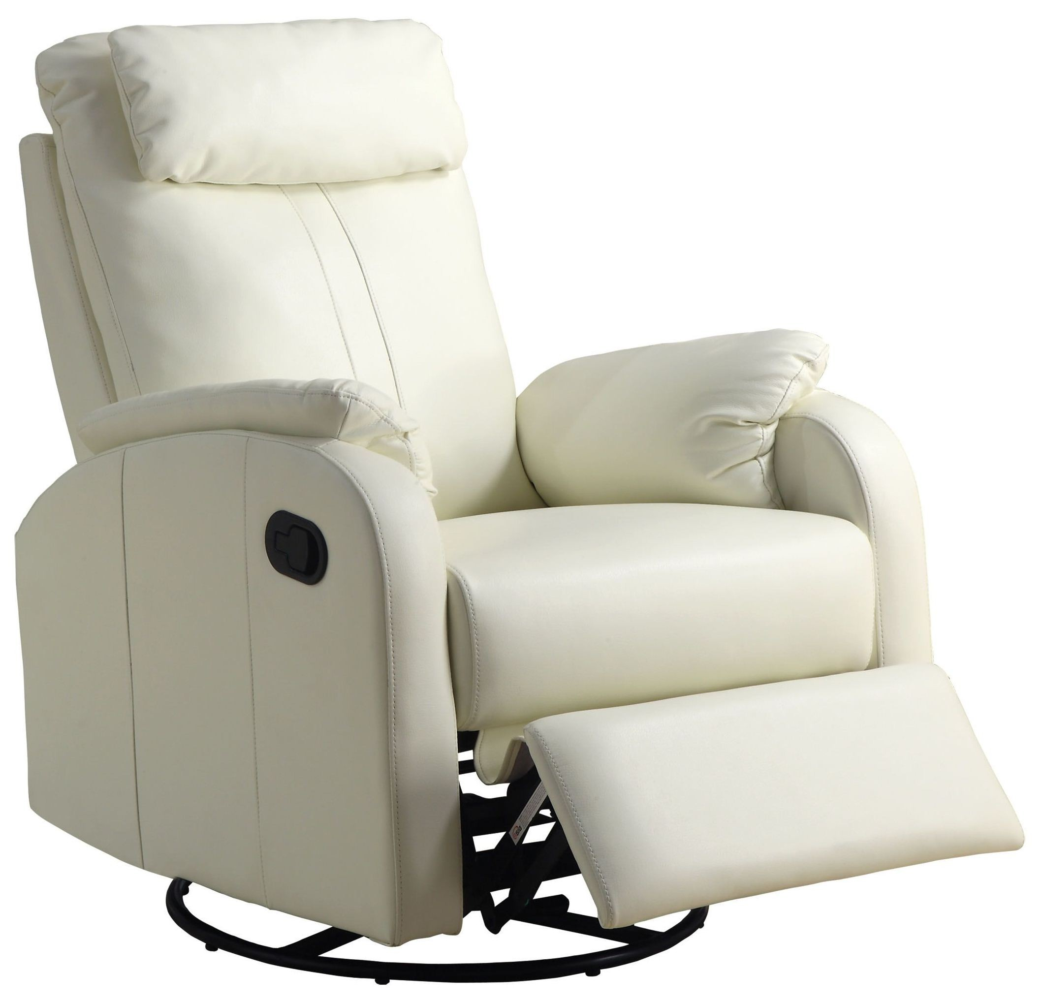 Ivory Padded Swivel Rocker Recliner From Monarch 8081iv