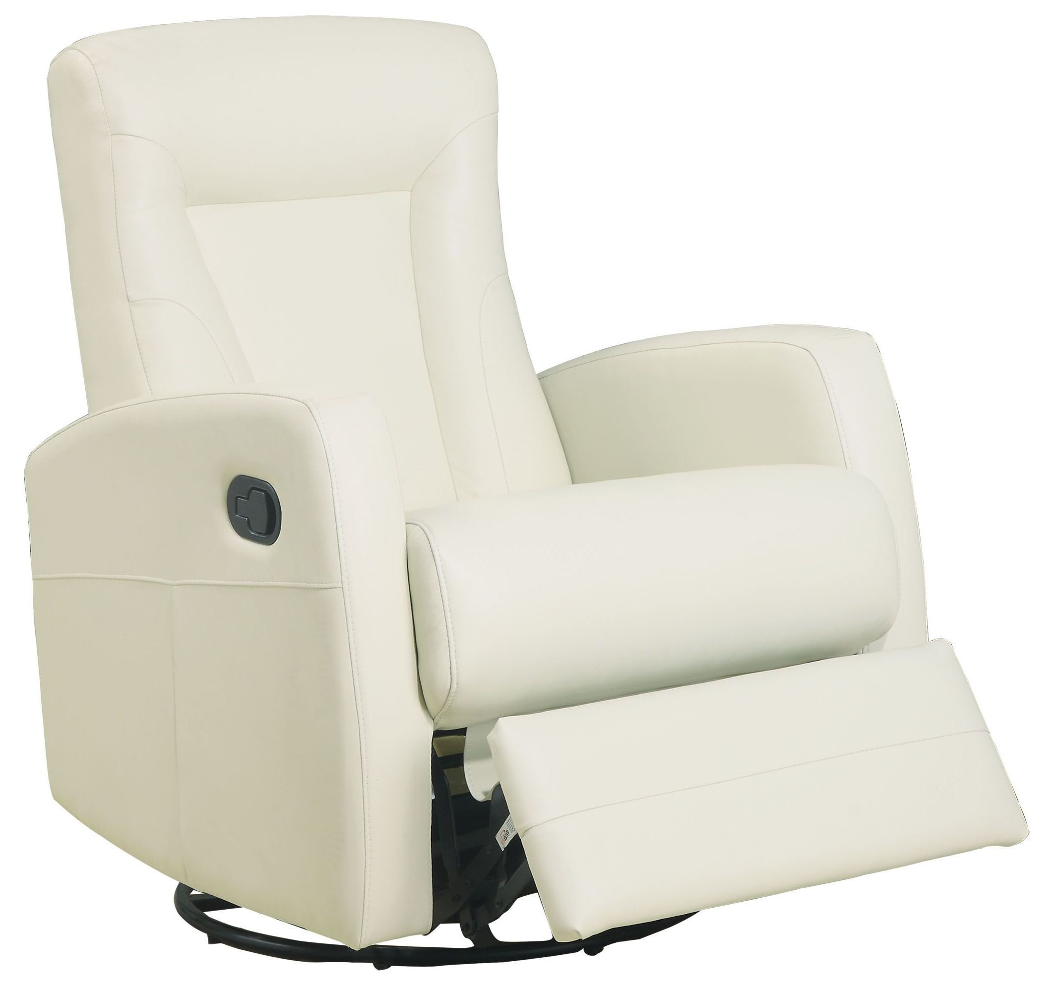 Leather swivel rocker recliner this contemporary design for Modern swivel accent chair