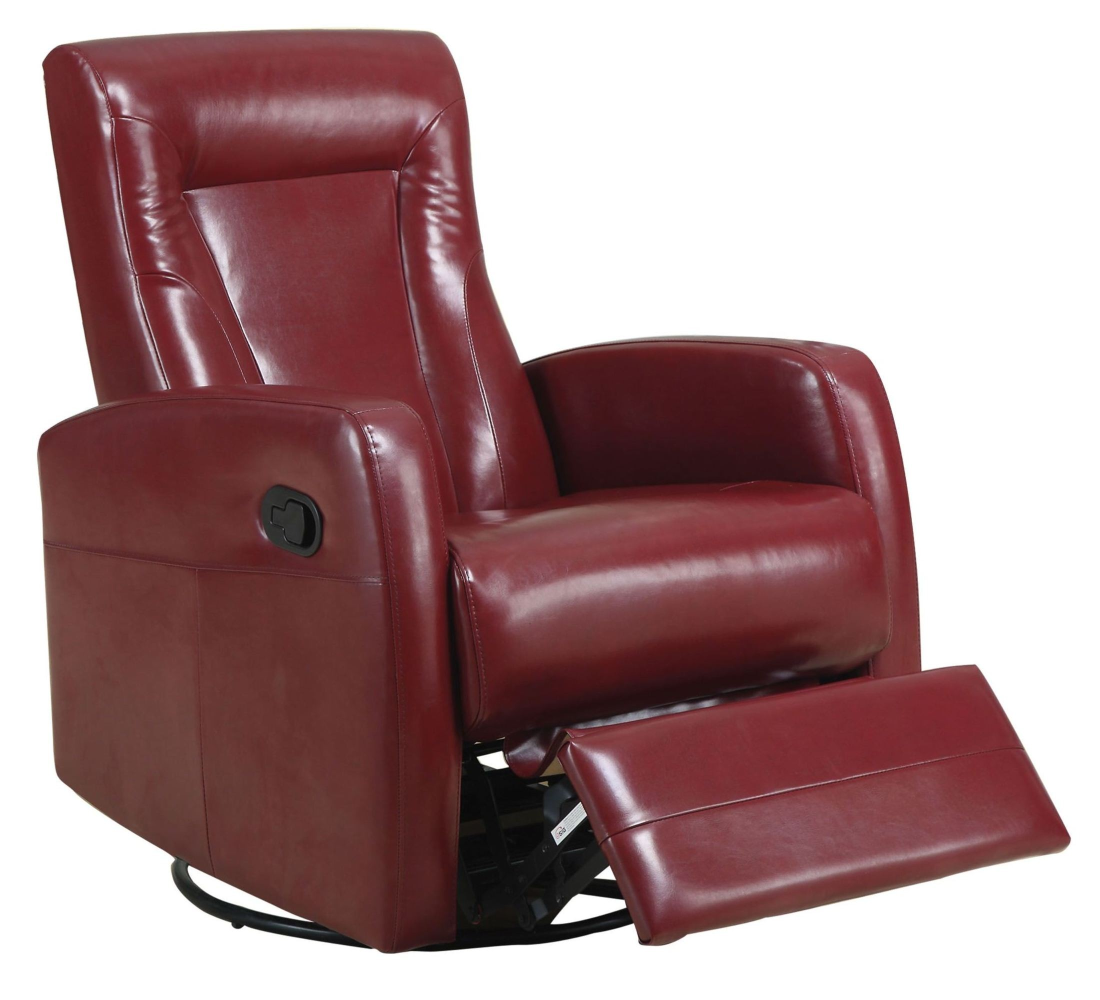 Red Swivel Rocker Recliner From Monarch 8082rd Coleman