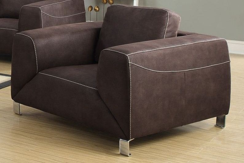 Chocolate Brown Micro Suede Living Room Set From Monarch 8513br Coleman Furniture