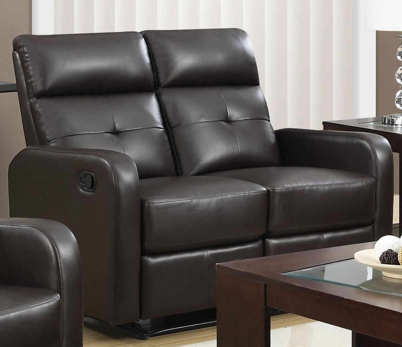 85br 3 Brown Bonded Leather Reclining Living Room Set