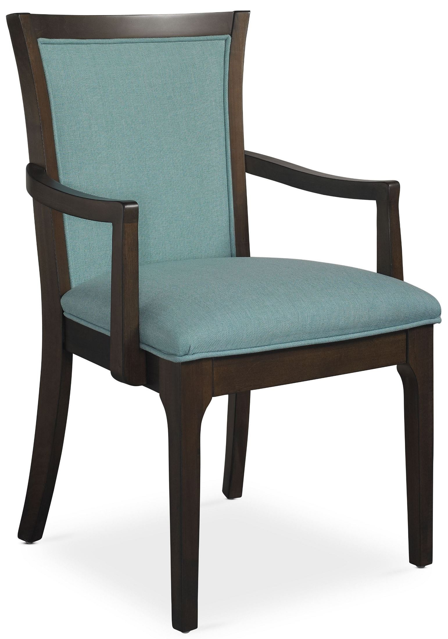 Improv in b clear brown and maxi teal fabric arm chair for Teal and brown chair