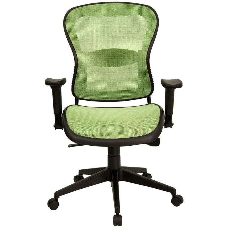home mid back green mesh contemporary office chair