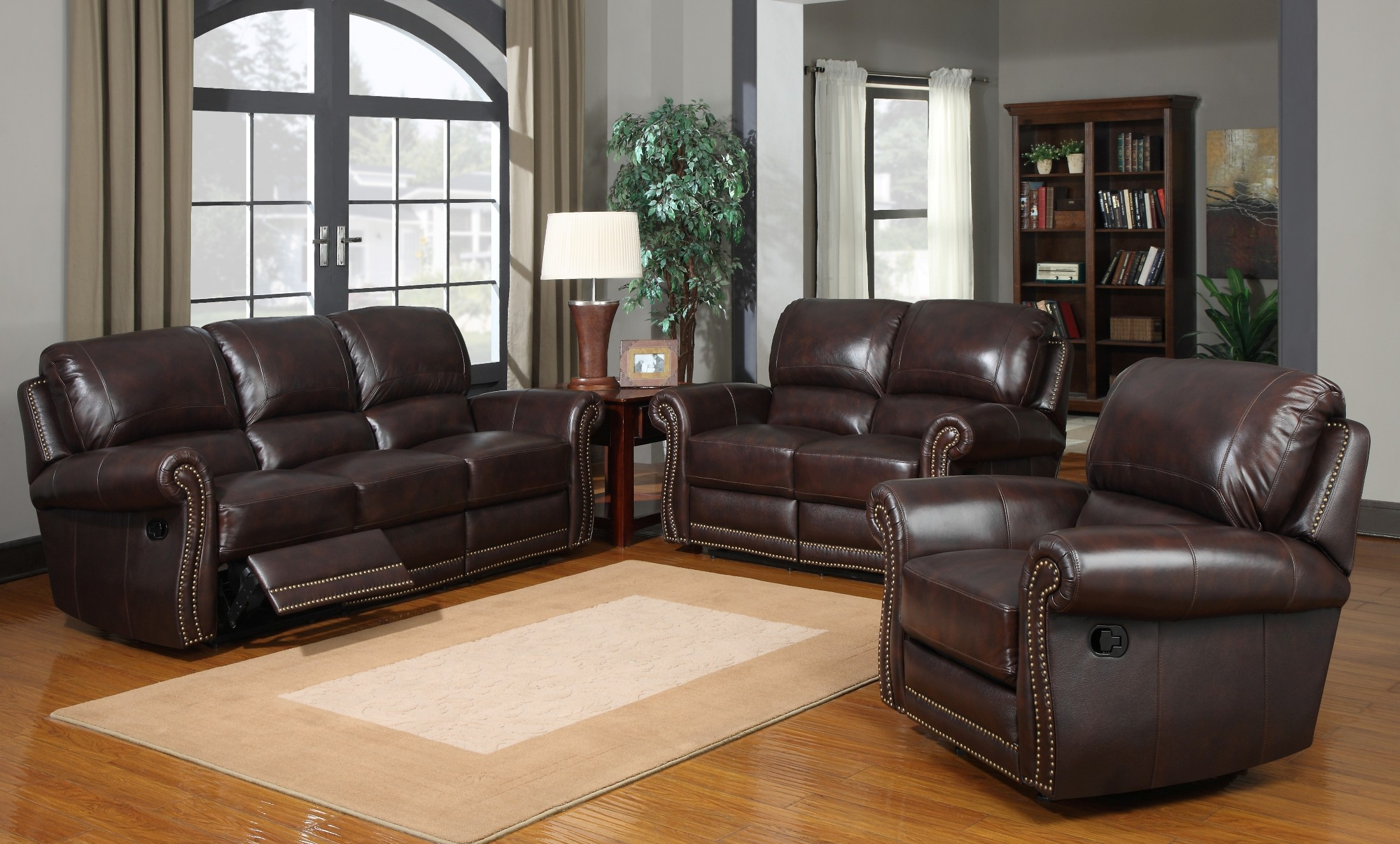James tobacco reclining living room set from leather for J m furniture soho living room collection