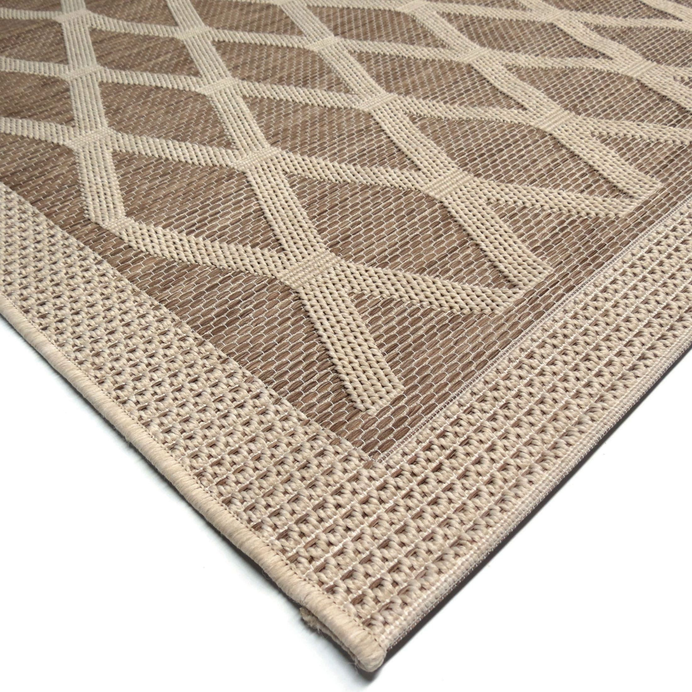 Orian Rugs Indoor Outdoor Diamonds Regal Dimension Tan