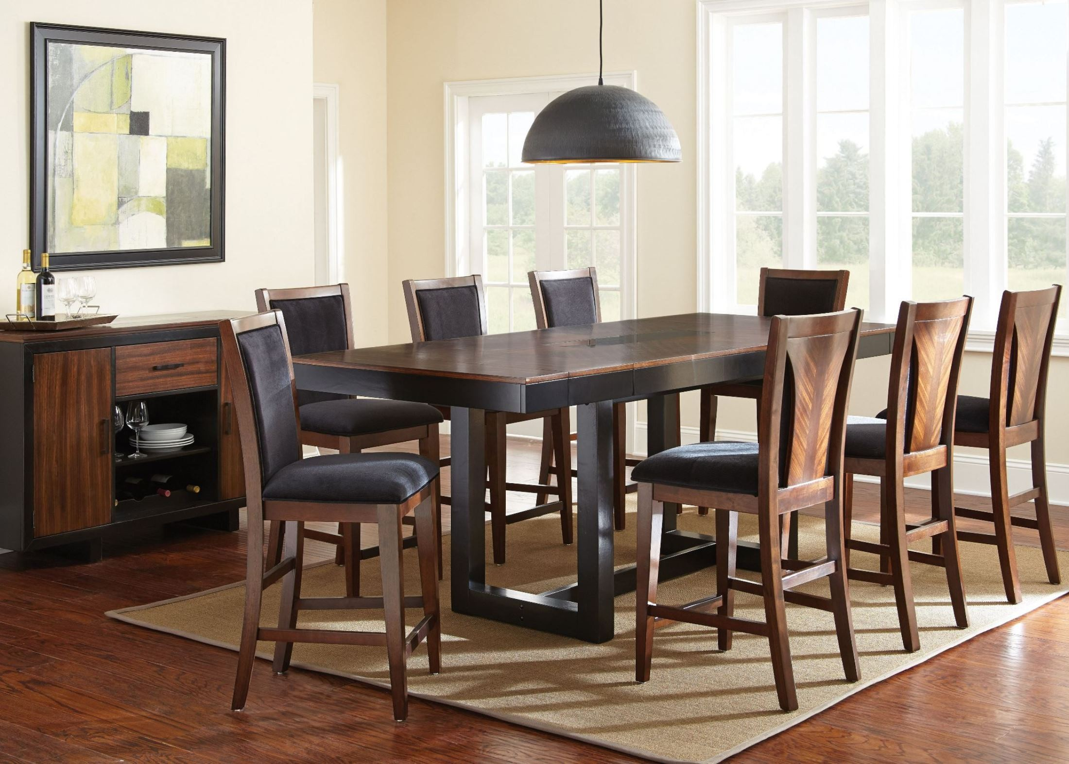 Julian Extendable Rectangular Counter Height Dining Room Set From Steve Silve