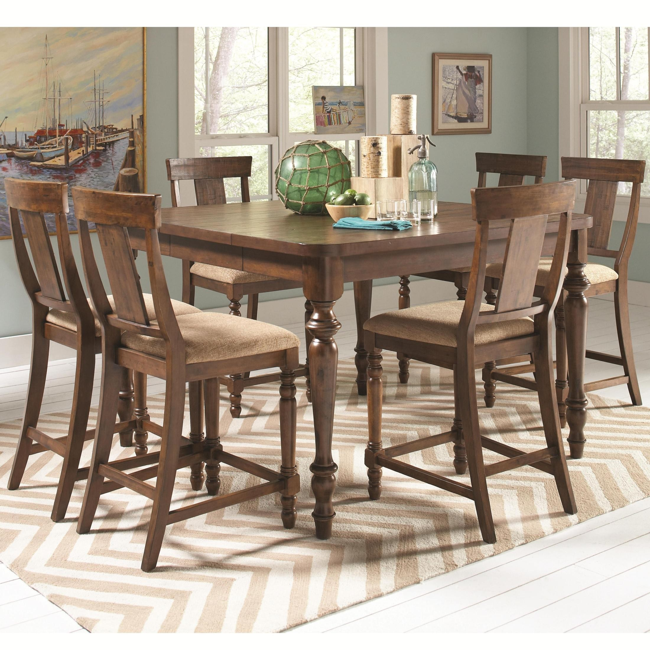 Jonas square extension counter height dining room set from for Counter height dining room sets