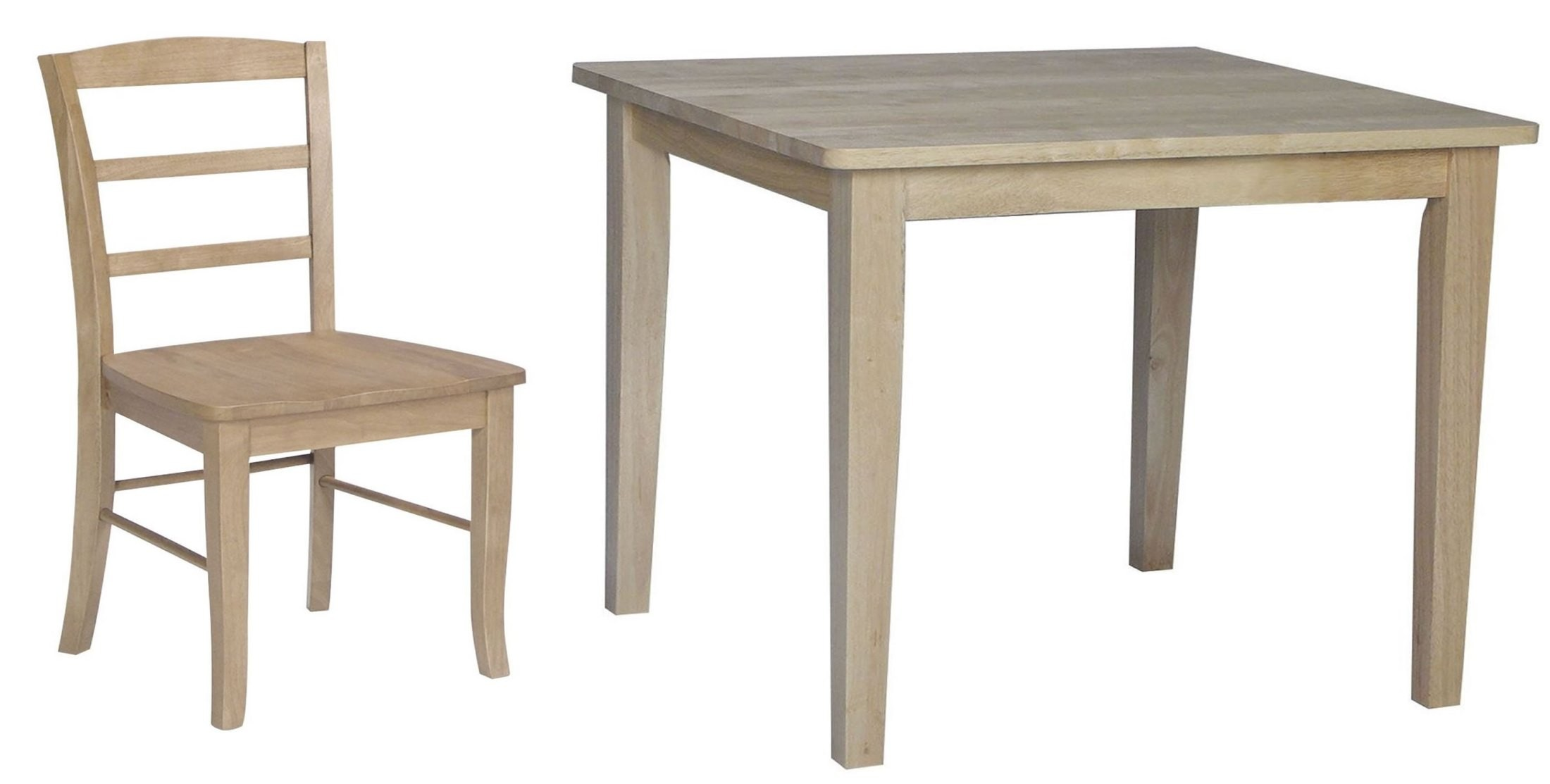 Dining essentials natural square dining room set t01 3030 for Dining room essentials