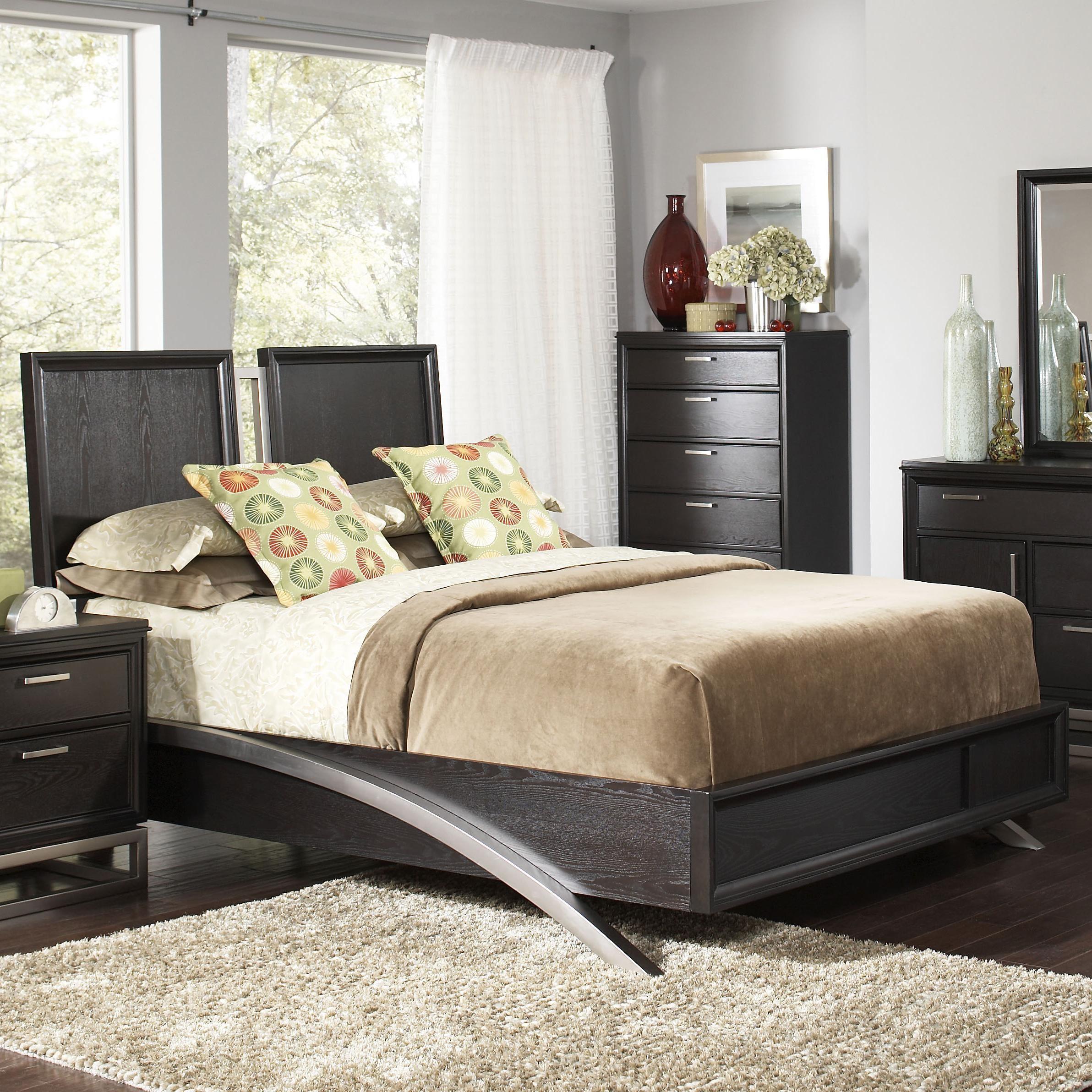 justine king platform bed from coaster 202531ke