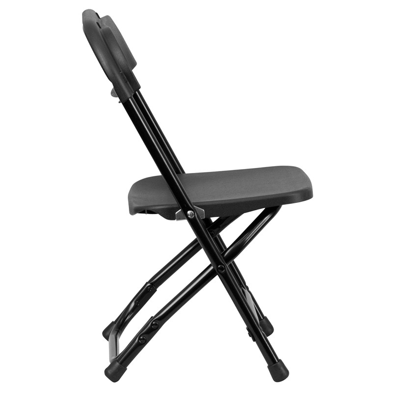 Kids Black Plastic Folding Chair from Renegade Y KID BK GG