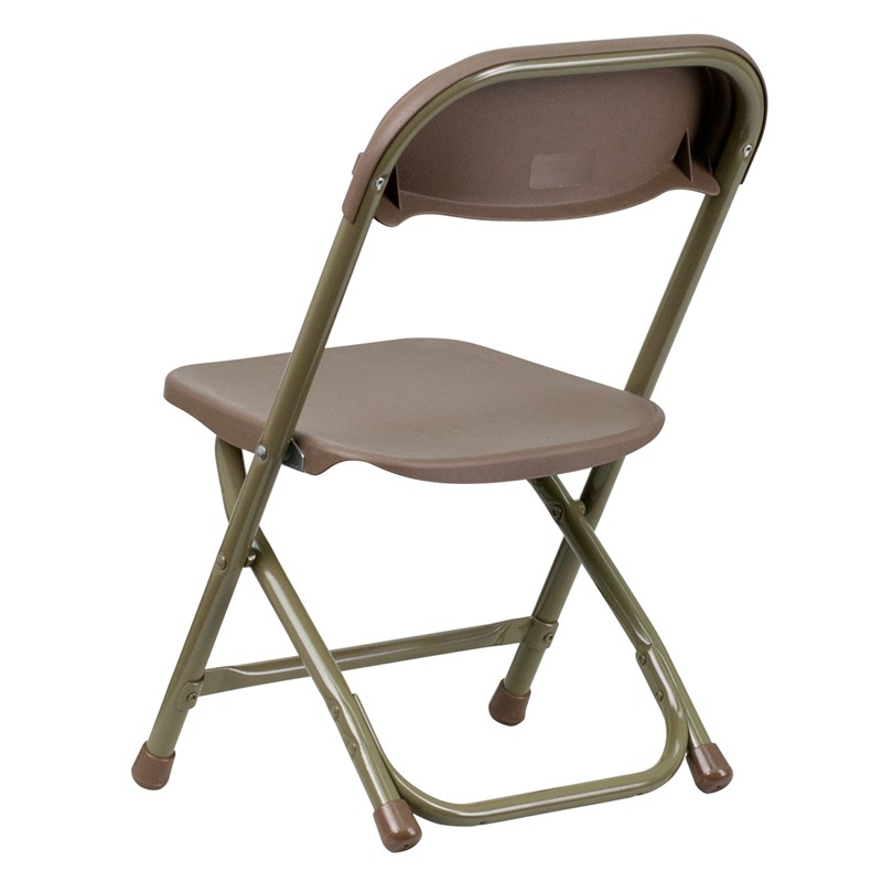 Kids Brown Plastic Folding Chair from Renegade Y KID BN GG