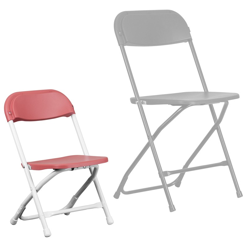 Kids Burgundy Plastic Folding Chair from Renegade Y KID BY GG