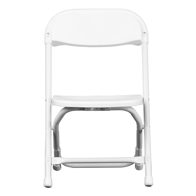 Kids White Plastic Folding Chair from Renegade Y KID WH GG