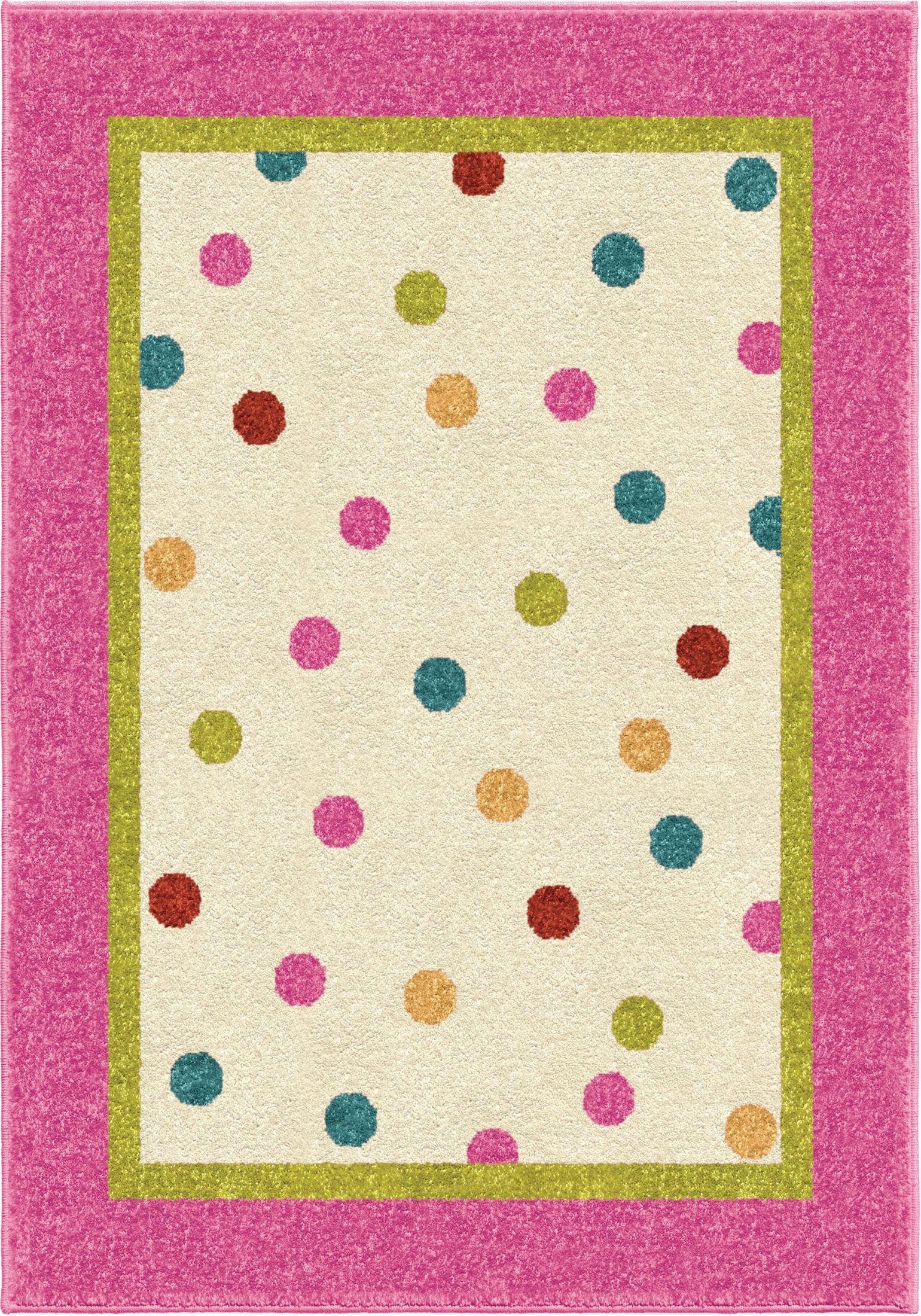 Polka Pink Small Rug 3103 4x6 Orian