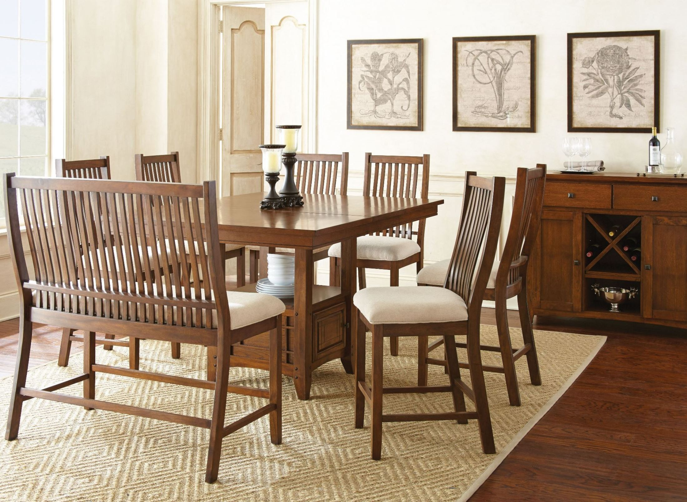 Kayan Extendable Counter Height Storage Dining Room Set from Steve ...