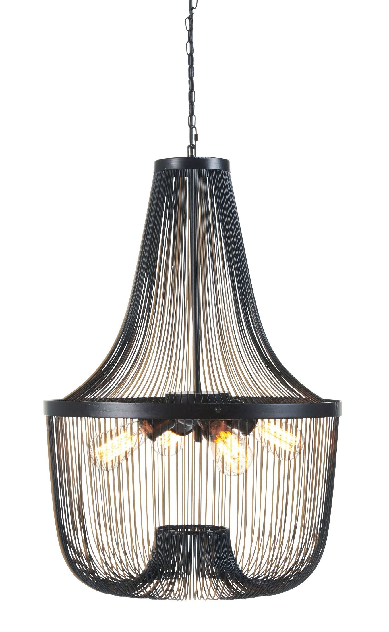 Jessika black metal pendant light l000568 ashley for Metal hanging lights
