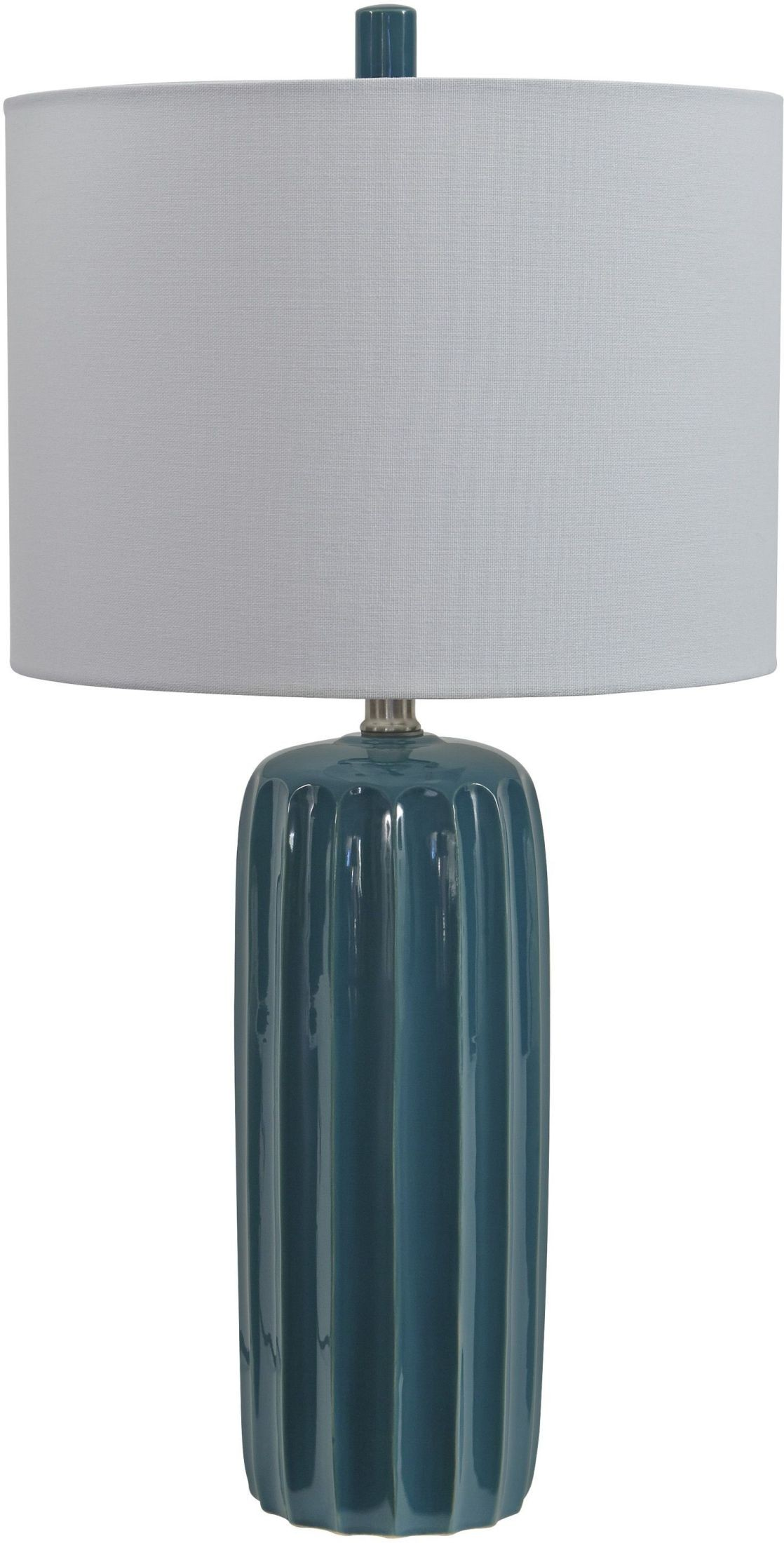 Adorlee Teal Ceramic Table Lamp, L177924, Ashley