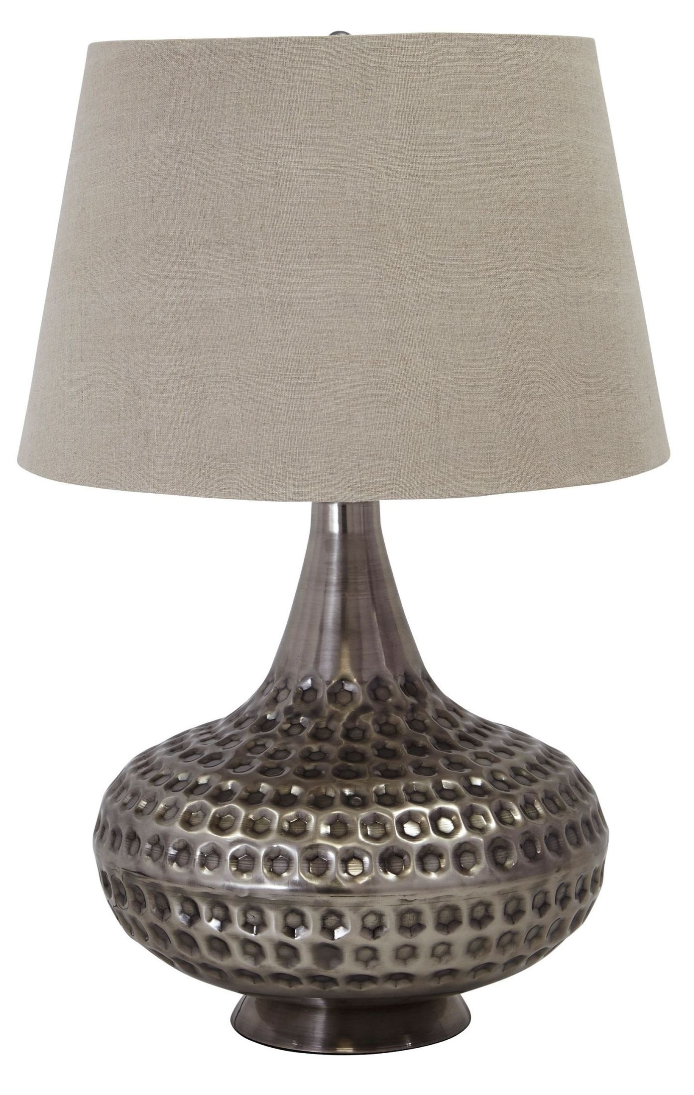 Pewter Metal Table Lamp From Ashley L207844