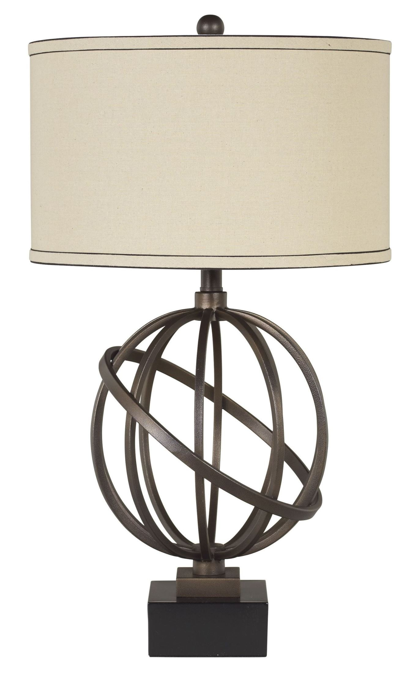 Iron Table Lamps : Shadell metal table lamp set of from ashley l