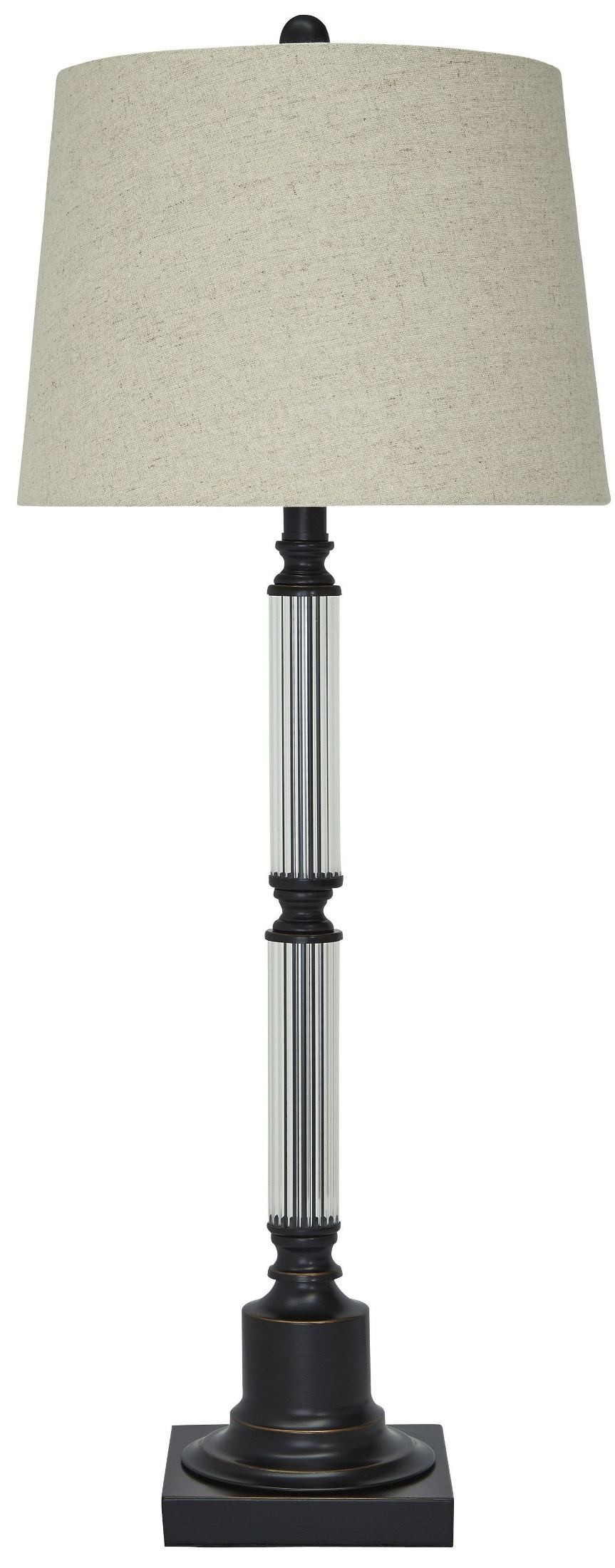 arenda bronze and clear glass table lamp l430364 ashley. Black Bedroom Furniture Sets. Home Design Ideas