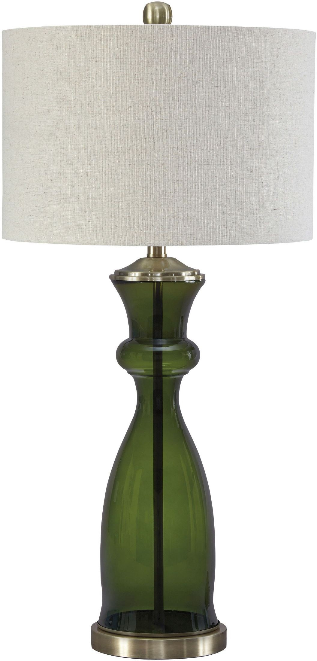ambrogio green glass table lamp l430464 ashley. Black Bedroom Furniture Sets. Home Design Ideas