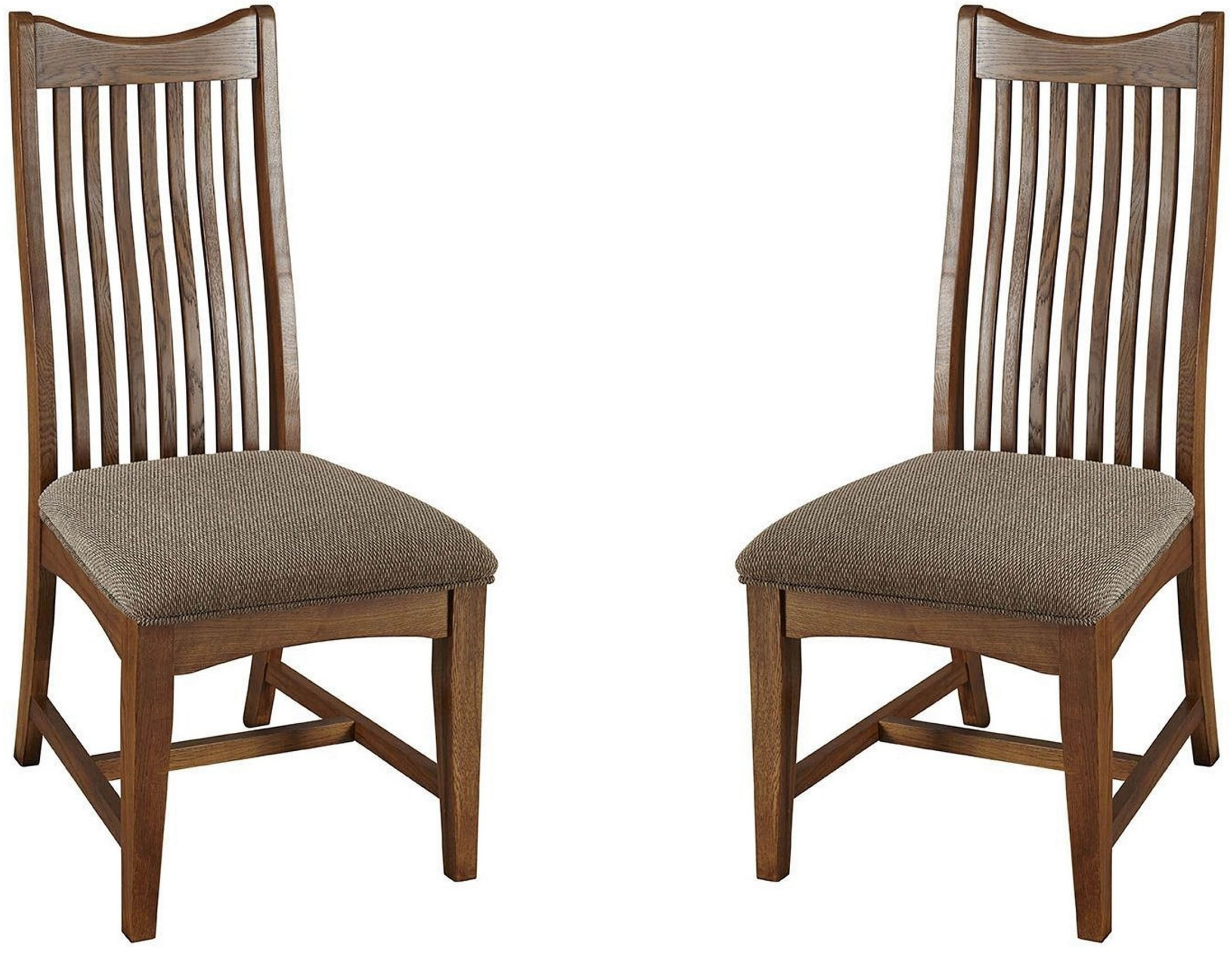 Laurelhurst Mission Oak Slatback Side Chair Set Of 2