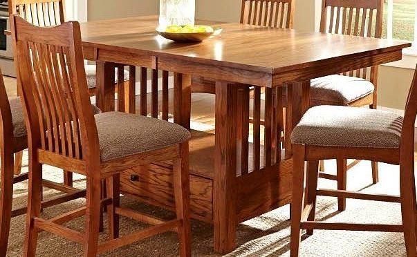Laurelhurst 72 mission oak extendable rectangular for Laurelhurst dining set