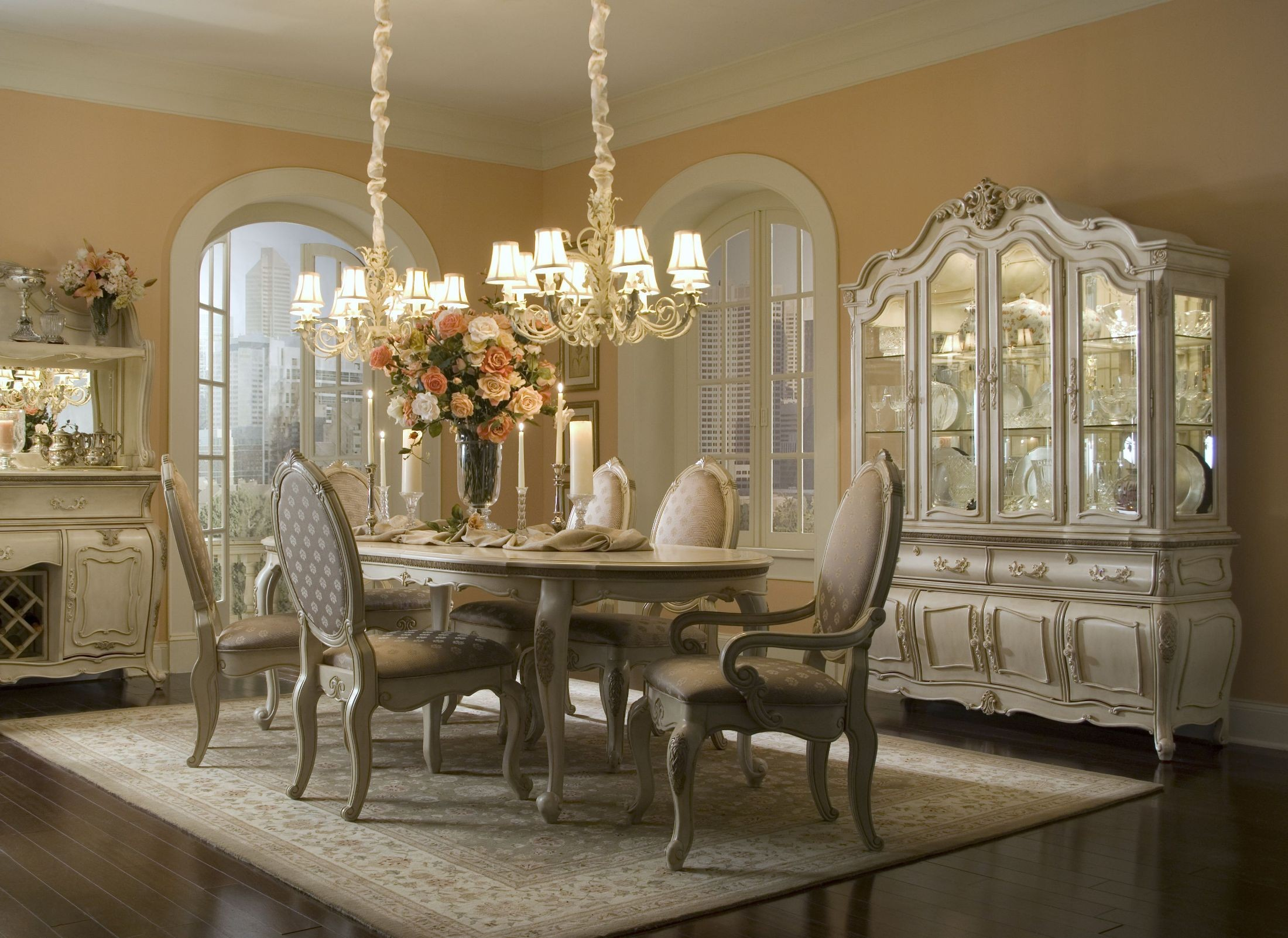 lavelle blanc oval dining room set from aico 54000 kingston plantation oval table formal dining room set