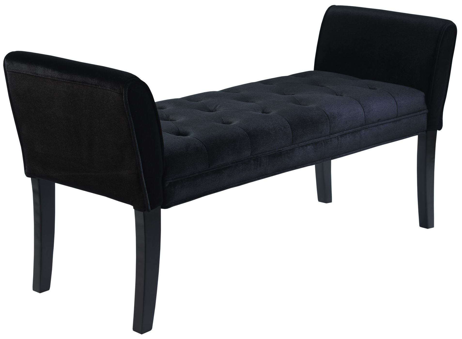 Chatham Black Velvet Bench Lc0845bebl Armen Living