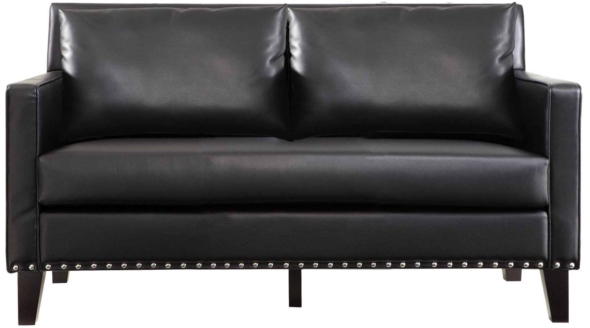 Dallas Black Leather Loveseat Lc21452bl Armen Living