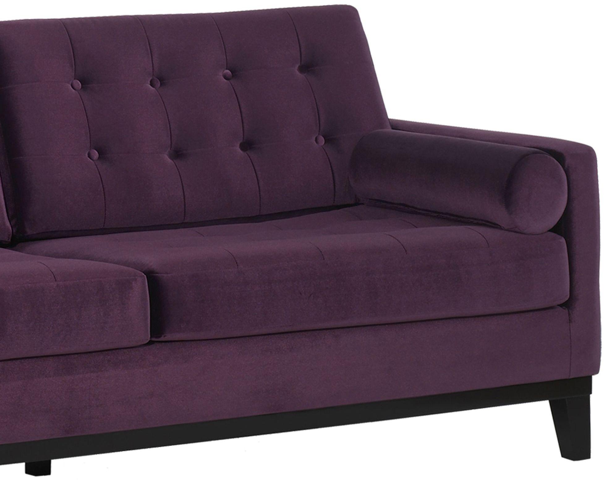 Centennial Purple Velvet Sofa Lc7253pu Armen Living