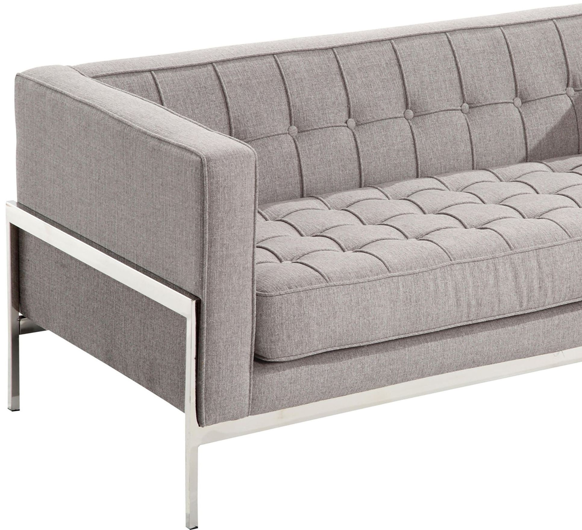 Andre gray tweed loveseat lcan2gr armen living for Gray tweed couch