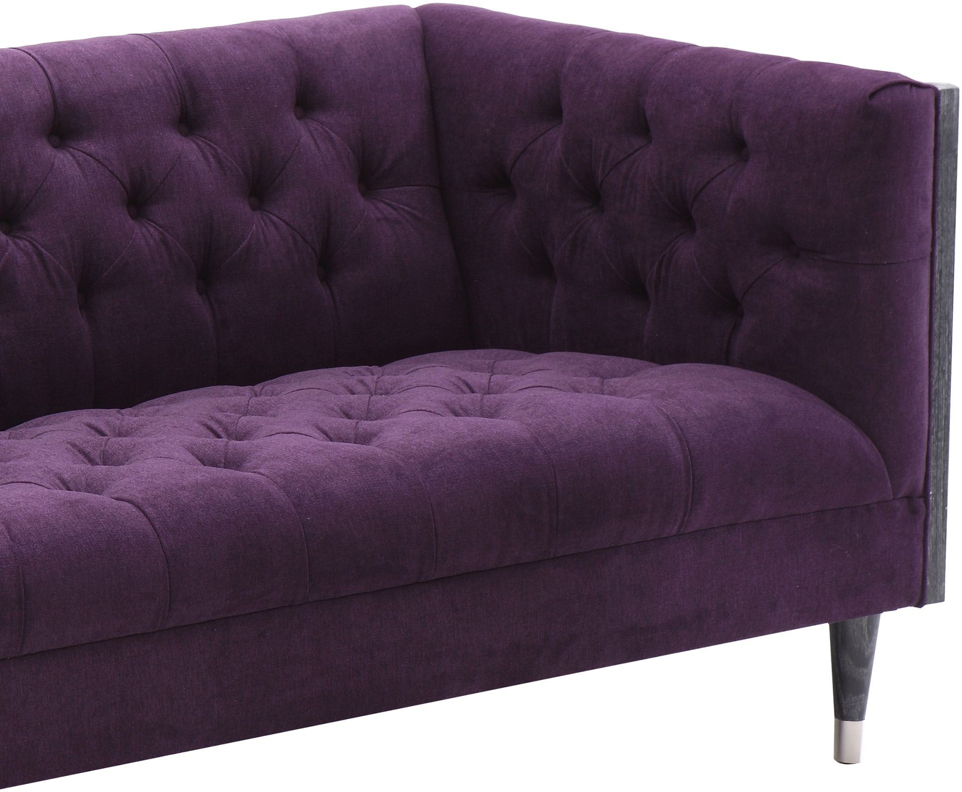 Bellagio Purple Fabric Loveseat Lcbe2pu Armen Living