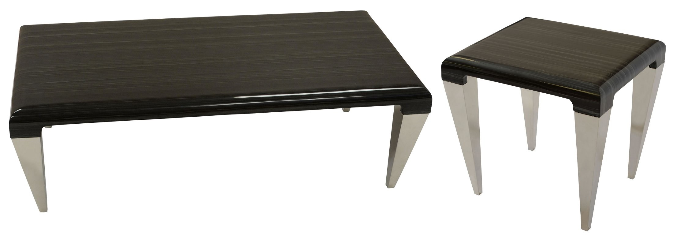 Chow Black Marble Occasional Table Set Lcchcoto Armen Living