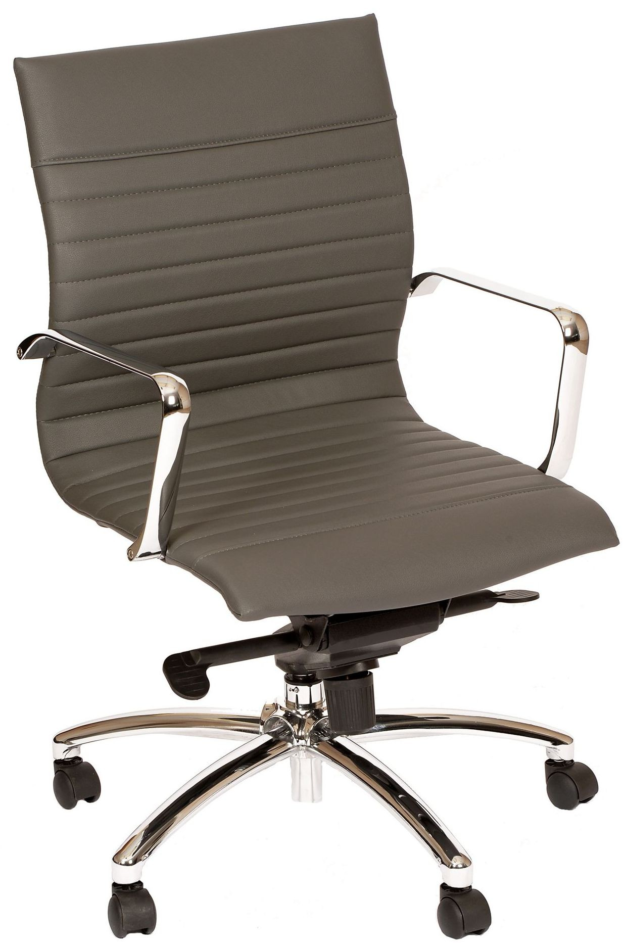 hannah contemporary gray and chrome office chair lchaofchgr armen