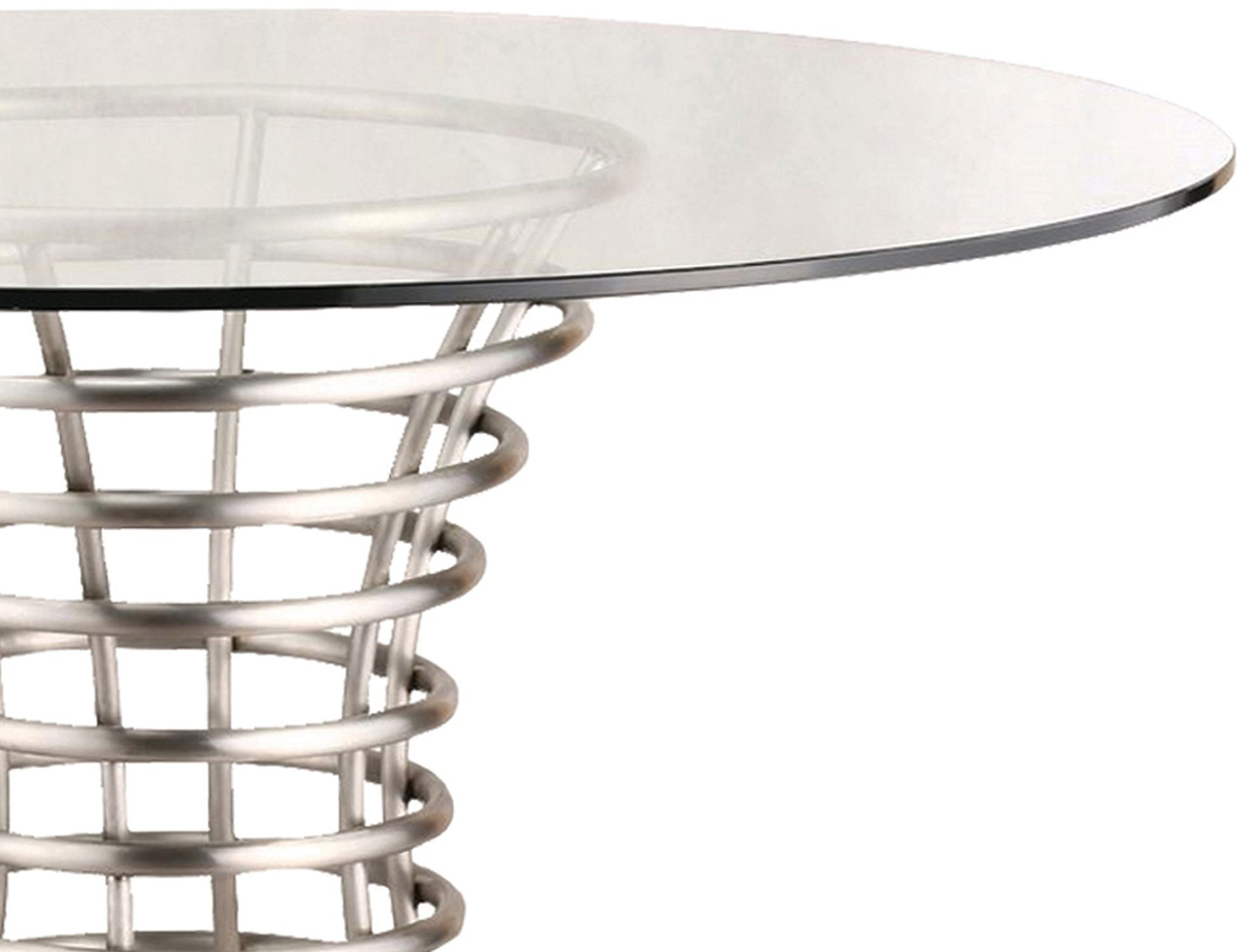 Ibiza brushed stainless steel dining table lcibdib201 for Stainless steel dining table