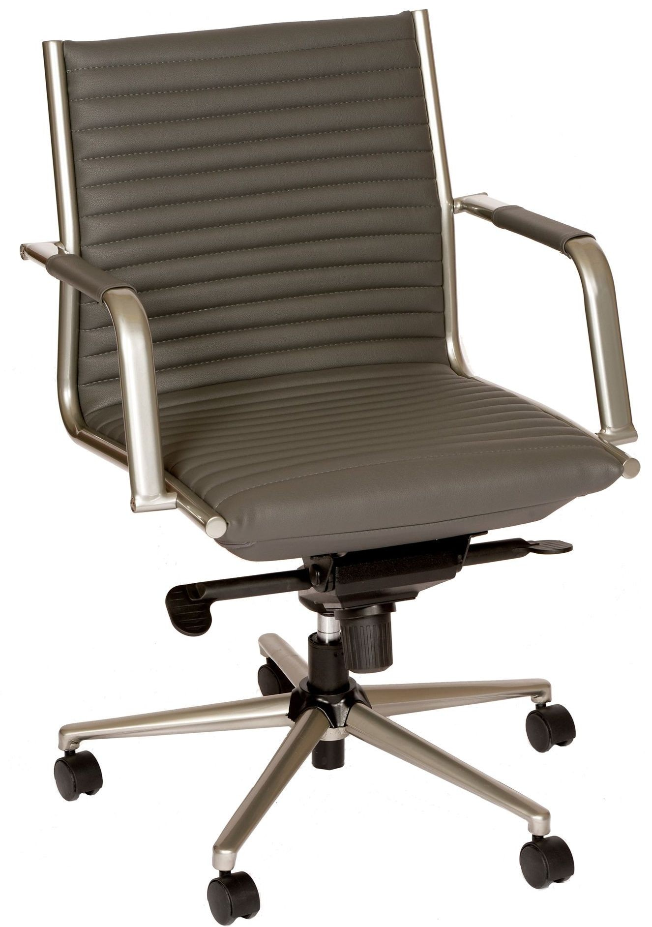 Leo Modern Gray Office Chair LCLEOFCHGR Armen Living