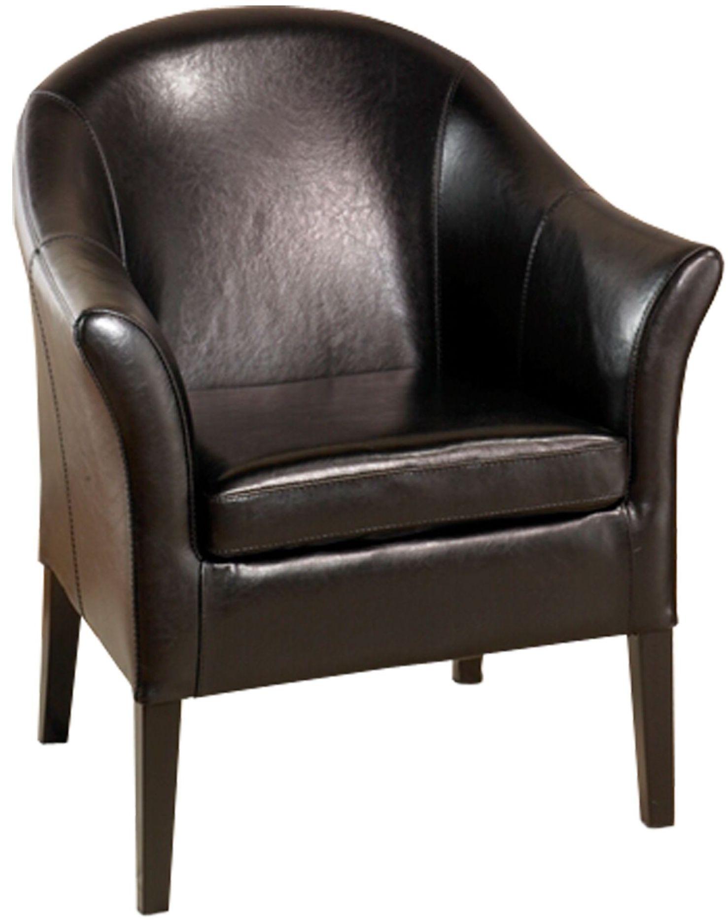 1404 black leather club chair lcmc001clbl armen living