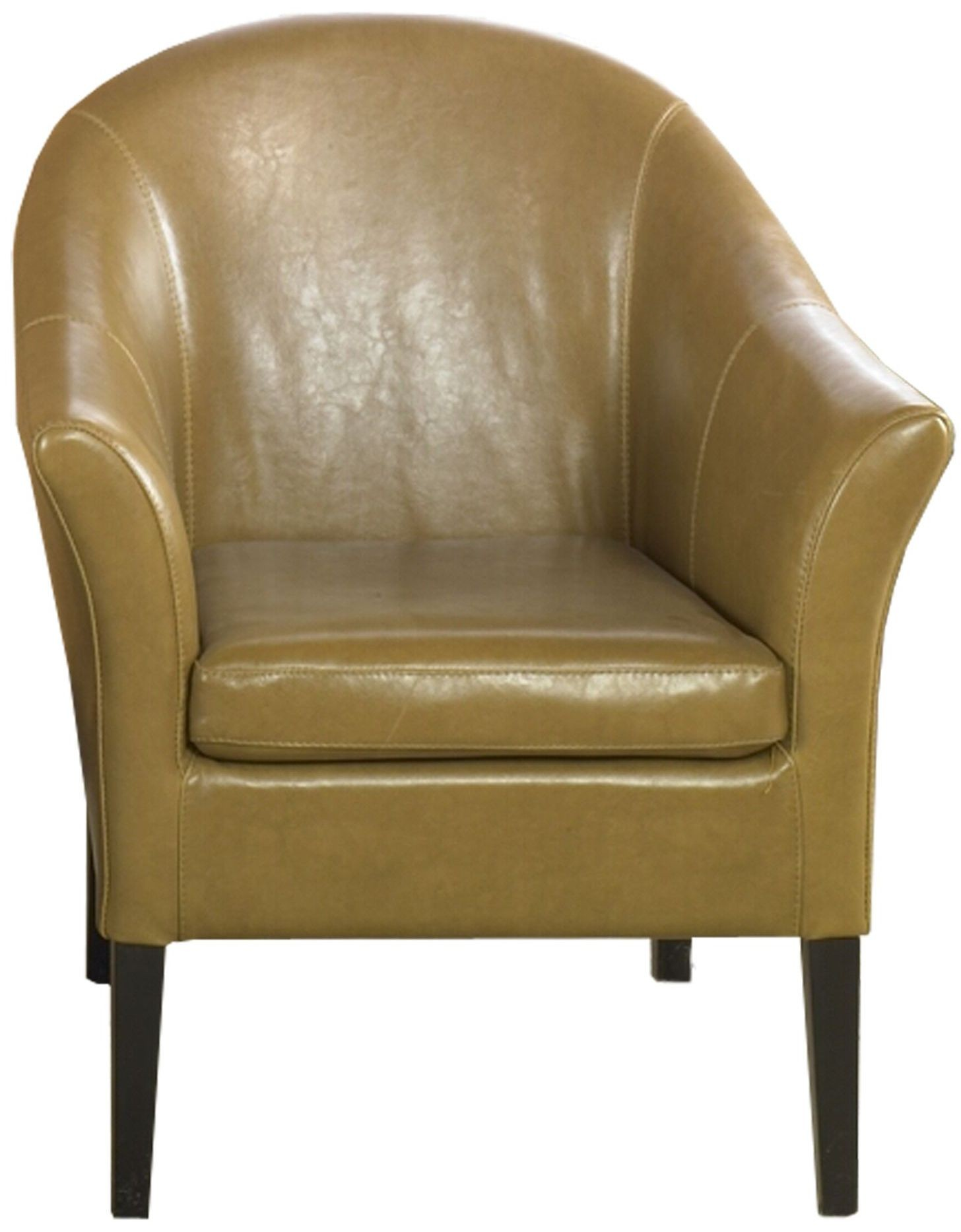 1404 Camel Leather Club Chair LCMC001CLCA Armen Living