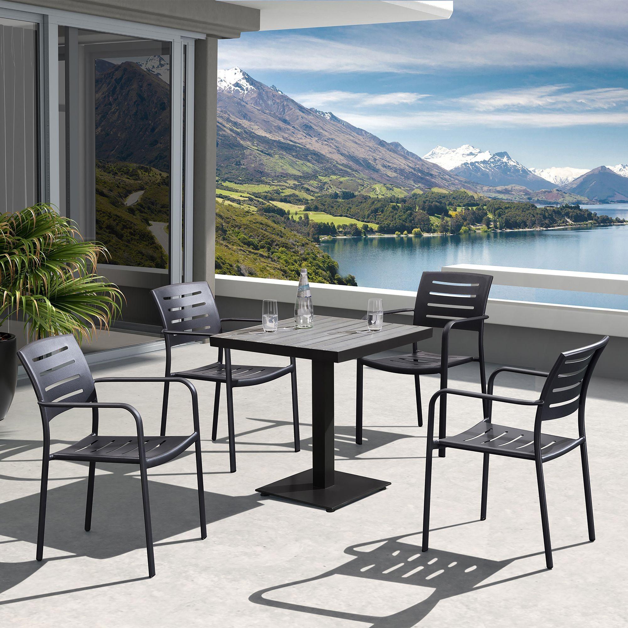 zander outdoor brown patio dining room set lczadibr