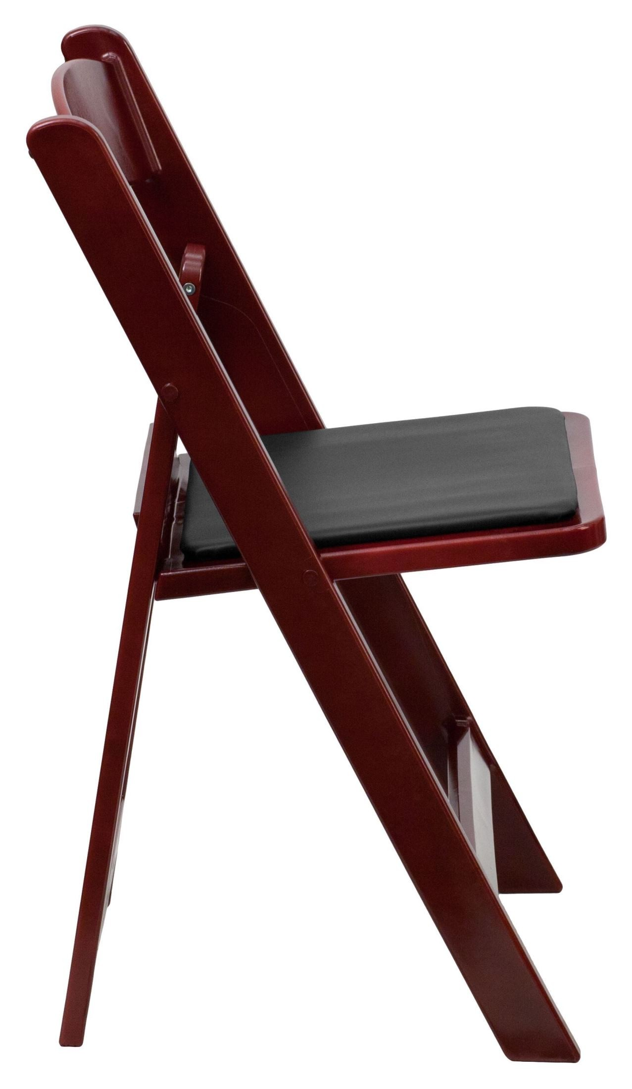 Hercules Series Red Mahogany Resin Vinyl Folding Chair From Renegade LE L 1