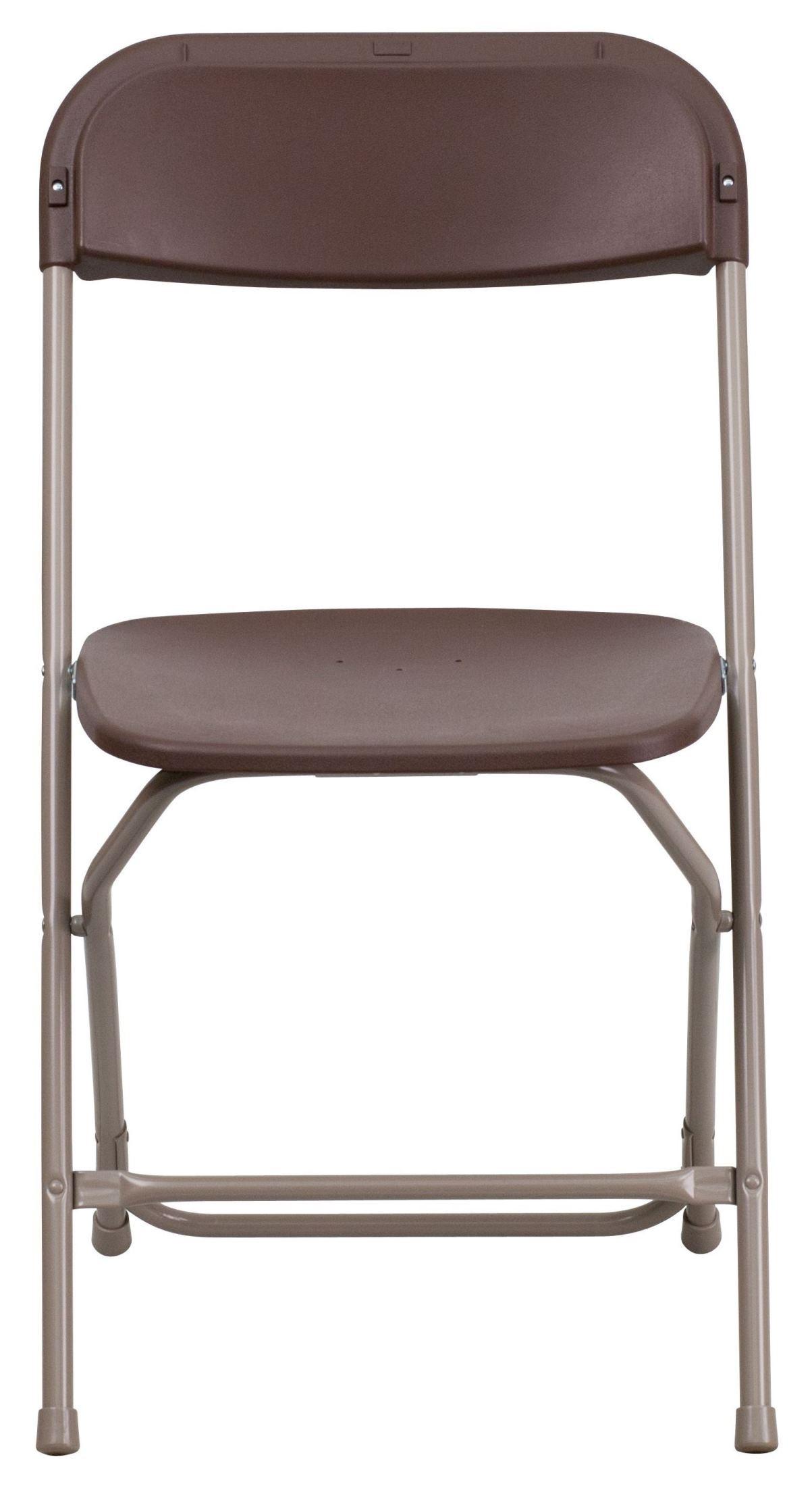 Hercules Series Premium Brown Plastic Folding Chair from Renegade LE L 3 BRO