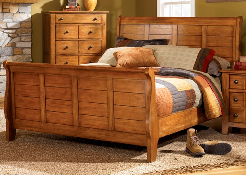grandpas cabin youth king sleigh bed by liberty 176 br22h king size beds. Black Bedroom Furniture Sets. Home Design Ideas