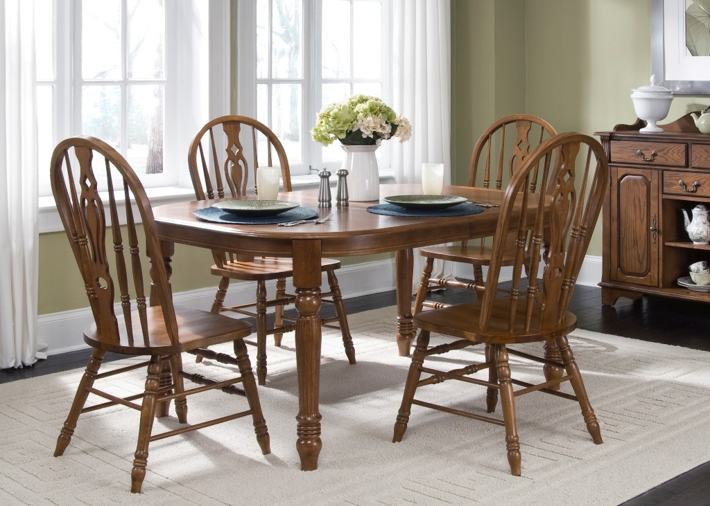 Old world oval leg dining set from liberty t
